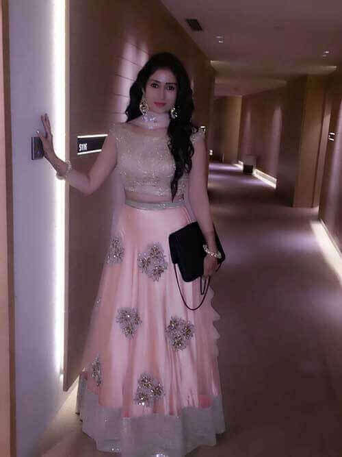 Gungun Uprari TV Actress Loved The Pastel Peach Lehenga